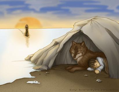 زرتشت در کنار گرگ ها