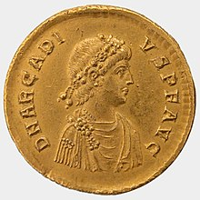 سکه زرین امپراتور بیزانس، آرکادیوس