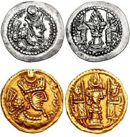 سکه های بهرام گور